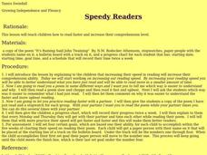 Speedy Readers Lesson Plan