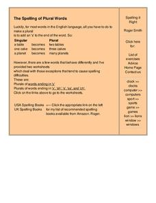 Spelling it Right Worksheet