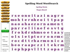 Spelling Words Worksheet