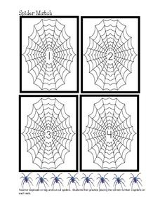 Spider Match Lesson Plan
