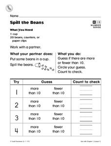 Spill the Beans Worksheet