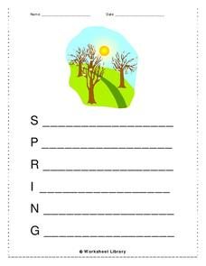 Spring Worksheet