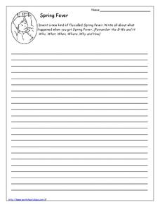 Spring Fever Worksheet