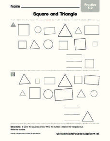 Square and Triangle Worksheet