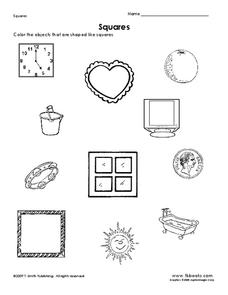 Squares Worksheet