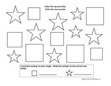 Squares and Stars Worksheet