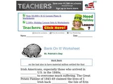 St. Patrick's Day Worksheet