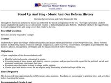 Stand Up and Sing Lesson Plan