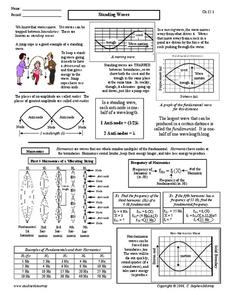Standing Waves Worksheet