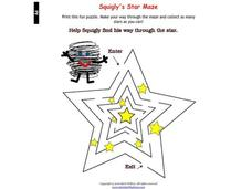 Star Maze Worksheet