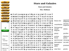 Stars and Galaxies Worksheet