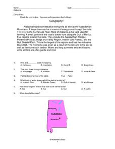 State of Alabama Worksheet