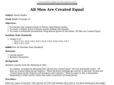 All Men Are Created Equal Lesson Plan