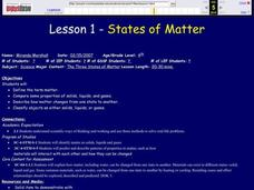 States of Matter Lesson Plan
