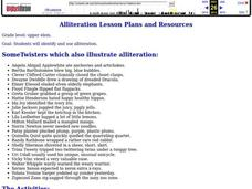 Alliteration Lesson Plan