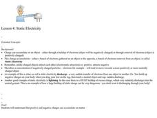 Static Electricity Lesson Plan