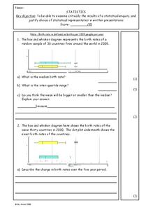 Statistics Worksheet