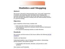 Statistics and Shopping Lesson Plan