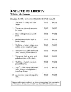 Statue of Liberty Worksheet