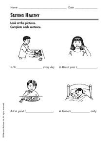 Staying Healthy Worksheet