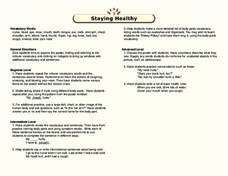 Staying Healthy Lesson Plan