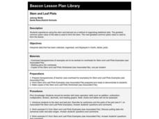 Stem and Leaf Plots Lesson Plan