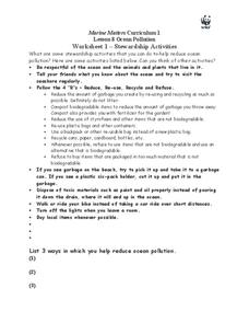 Stewardship Activities Worksheet