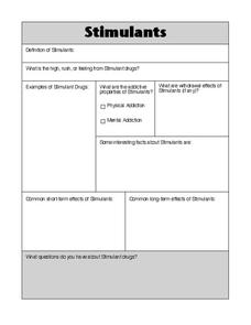 Stimulants Graphic Organizer