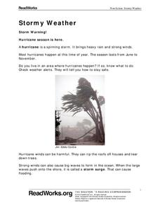 Stormy Weather Worksheet