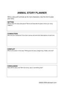 Story Planner Worksheet