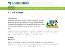 All in Business Lesson Plan