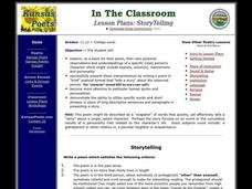 Storytelling Lesson Plan