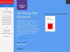 All About Me Museum Lesson Plan