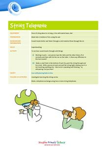 String Telephone Lesson Lesson Plans & Worksheets