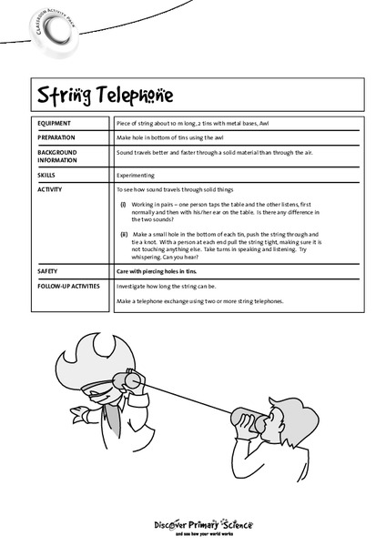 String Telephone Worksheet for 2nd - 3rd Grade | Lesson Planet