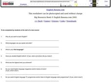 Student Self-assessment Worksheet