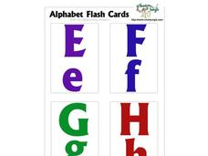 Alphabet Flash Cards Worksheet