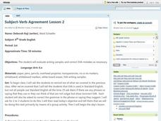 Subject-Verb Agreement Lesson Plan