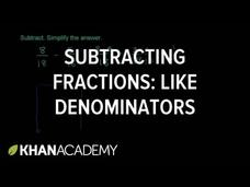 Subtracting Fractions Video