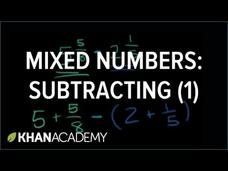 Subtracting Mixed Numbers Video