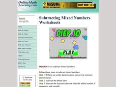 Converting Mixed Numbers Lesson Plans & Worksheets