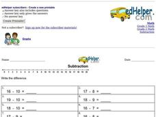 Subtraction Practice Interactive