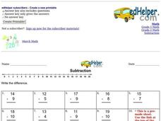 Subtraction Practice 2 Worksheet