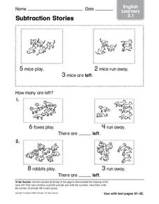 Subtraction Stories Worksheet