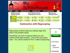Subtraction with Regrouping Interactive