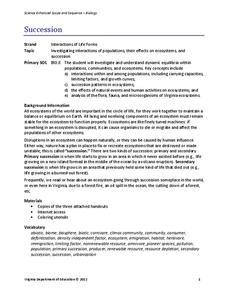 Ecological Succession Worksheet S Delibertad