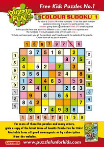 Sudoku Worksheet