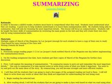 Summarizing Lesson Plan