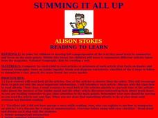 Summing It All Up Lesson Plan