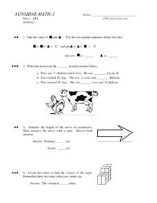 Sunshine Math- 3 Worksheet